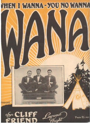 Wana - Old Sheet Music by Lawrence Wright