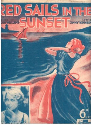 Red sails in the sunset - Old Sheet Music by Peter Maurice