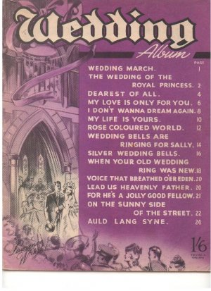 Wedding album - Old Sheet Music by Lawrence Wright