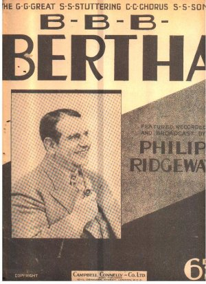B B B Bertha - Old Sheet Music by Campbell Connelly