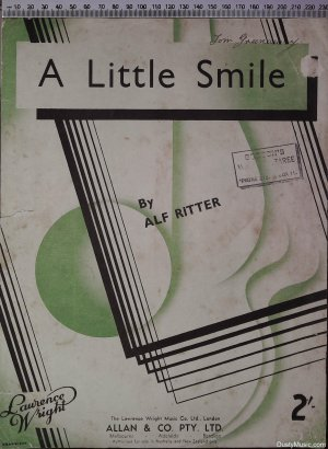 A little smile - Old Sheet Music by Lawrence Wright