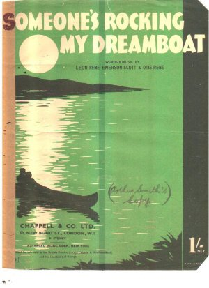 Someone's rocking my dreamboat - Old Sheet Music by Chappell
