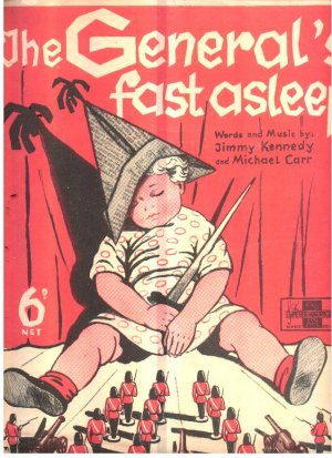 The general's fast asleep - Old Sheet Music by Peter Maurice