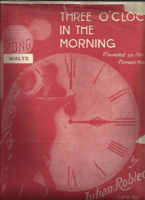 Three o'clock in the morning - Old Sheet Music by West's Ltd