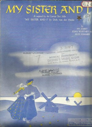 My sister and I - Old Sheet Music by Broadcast Music