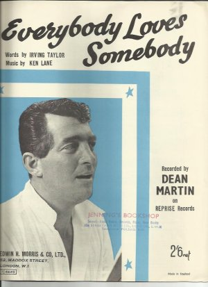Everybody loves somebody - Old Sheet Music by Morris
