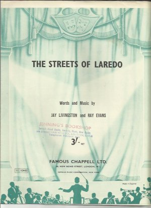 The streets of Laredo - Old Sheet Music by Chappell