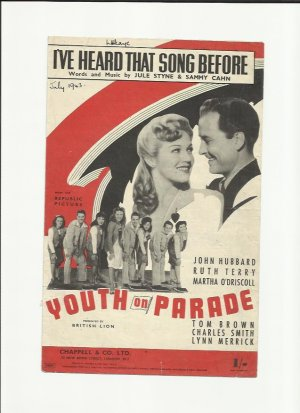 I've heard that song before - Old Sheet Music by Chappell