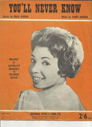 You'll never know - Old Sheet Music by Bregman, Vocco & Conn