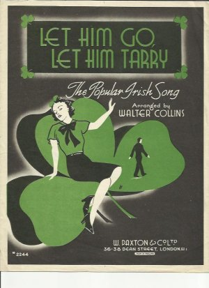 Let him go let him tarry - Old Sheet Music by Paxton