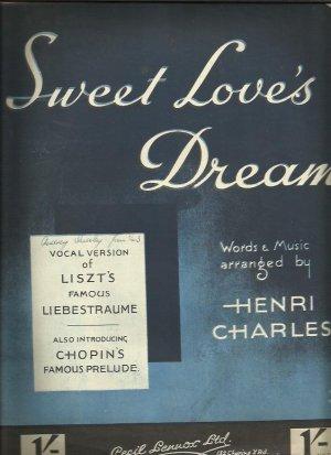 Sweet love's dream - Old Sheet Music by Lennox