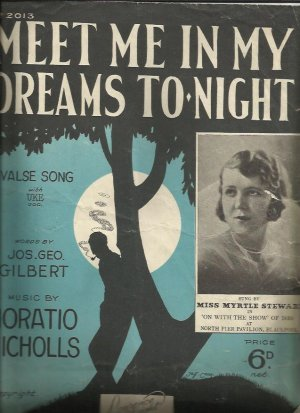 Meet me in my dreams tonight - Old Sheet Music by Lawrence Wright