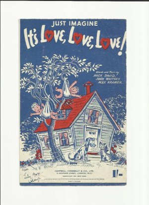 It's love love love - Old Sheet Music by Campbell Connelly