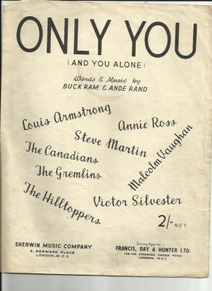 Only you - Old Sheet Music by Sherwin