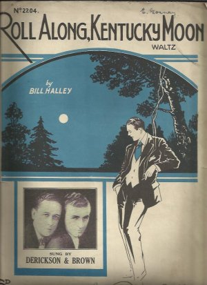 Roll along Kentucky moon - Old Sheet Music by Lawrence Wright