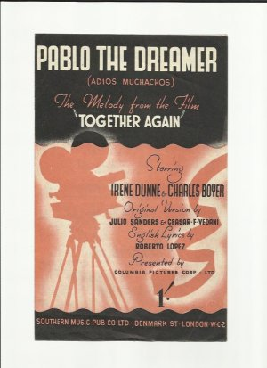 Pablo the dreamer - Old Sheet Music by Southern