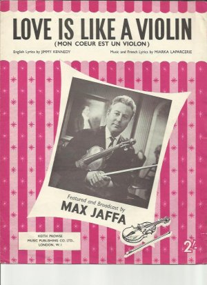 Love is like a violin - Old Sheet Music by Prowse