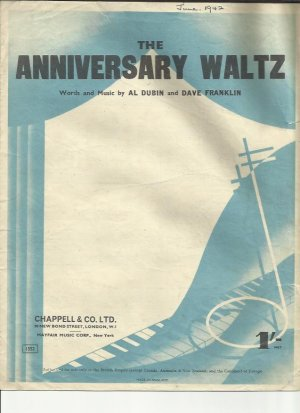 The anniversary waltz - Old Sheet Music by Chappell