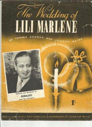 The wedding of Lili Marlene - Old Sheet Music by Box & Cox