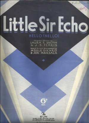 Little Sir Echo - Old Sheet Music by Sun