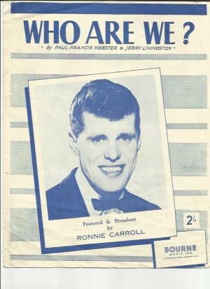 Who are we - Old Sheet Music by Bourne