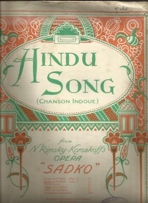 Hindu song - Old Sheet Music by Hawkes