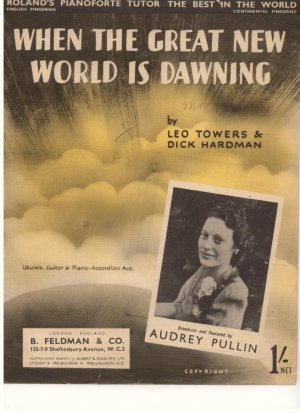 When the great new world is dawning - Old Sheet Music by Feldman