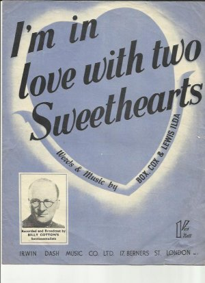 I'm in love with two sweethearts - Old Sheet Music by Dash