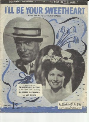 I'll be your sweetheart - Old Sheet Music by Feldman