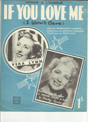 If you love me - Old Sheet Music by World Wide