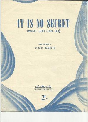 It is no secret - Old Sheet Music by Leeds