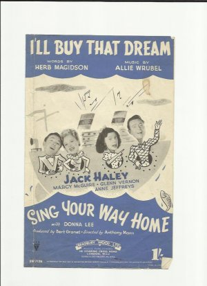I'll buy that dream - Old Sheet Music by Bradbury Wood
