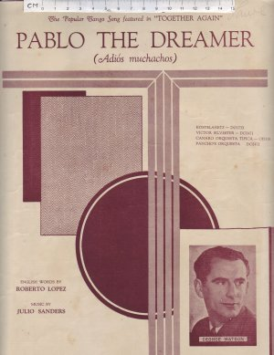 Pablo the dreamer - Old Sheet Music by Southern Music Publishing Co Ltd