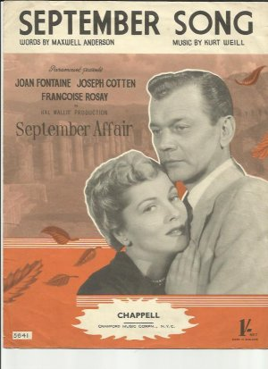 September song - Old Sheet Music by Chappell
