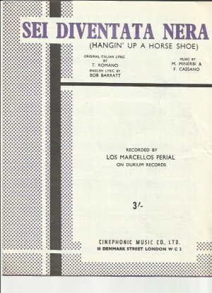 Sei Diventata Nera - Old Sheet Music by Cinephonic