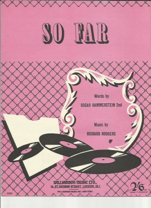 So far - Old Sheet Music by Williamson