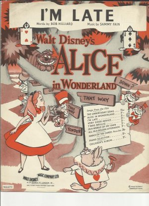 I'm late - Old Sheet Music by Walt Disney