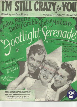 I'm still crazy for you - Old Sheet Music by Francis Day & Hunter
