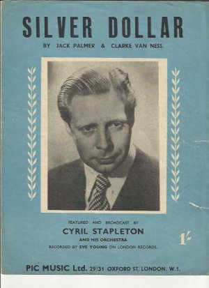 Silver dollar - Old Sheet Music by Pic