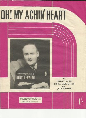 Oh my achin' heart - Old Sheet Music by Campbell Connelly