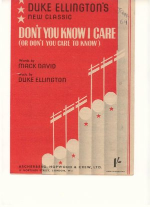 Don't you know I care - Old Sheet Music by Ascherberg Hopwood & Crew Ltd