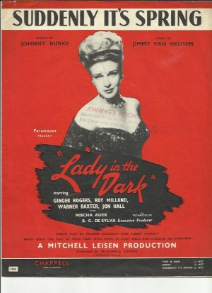 Suddenly it's spring - Old Sheet Music by Chappell