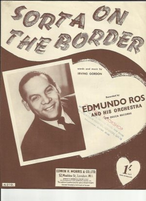 Sorta on the border - Old Sheet Music by Morris