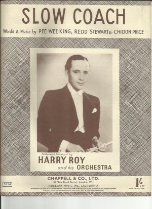 Slow coach - Old Sheet Music by Chappell