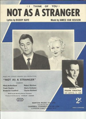 Not as a stranger - Old Sheet Music by Campbell Connelly