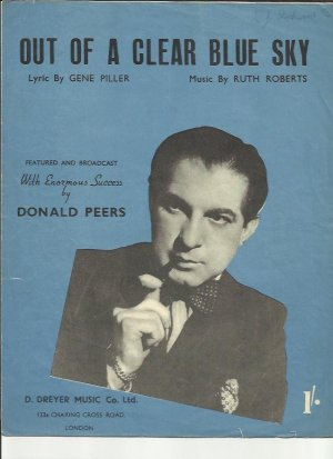 Out of a clear blue sky - Old Sheet Music by Dreyer