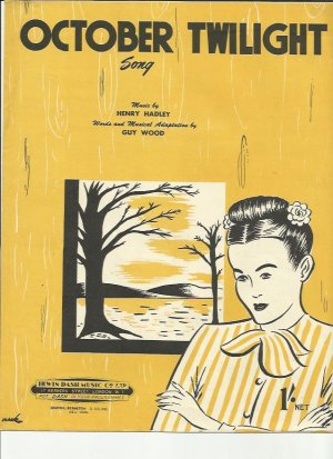 October twighlight - Old Sheet Music by Dash