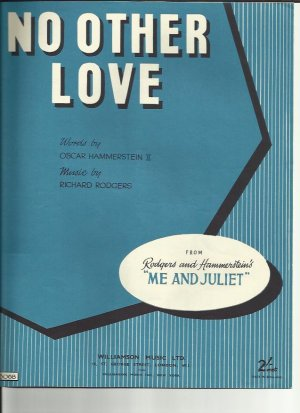 No other love - Old Sheet Music by Williamson
