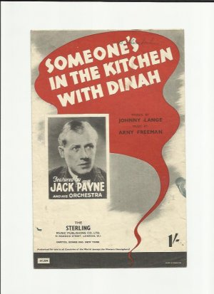 Someone's in the kitchen with Dinah - Old Sheet Music by Sterling