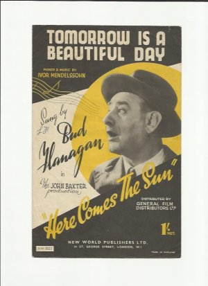 Tomorrow is a beautiful day - Old Sheet Music by New World